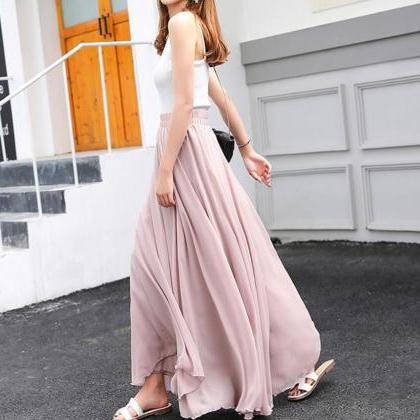 Fashionable Chiffon Long Skirts, Da..