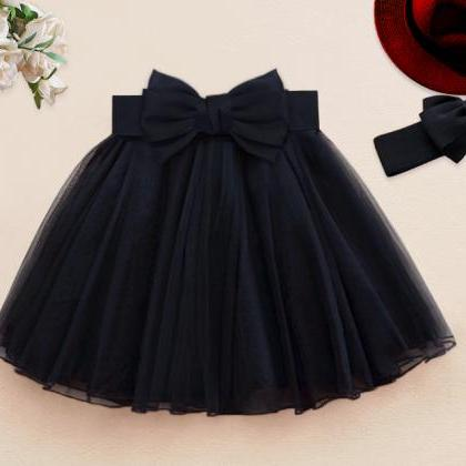 Cute Little Black Dress with Bow, M..