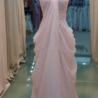 Custom Made Light Pink Chiffon Floor Length Prom Dresses 2016, New Style Prom Dresses 2016,Pink Prom Dress, Prom Gown, Bridesmaid Dreses