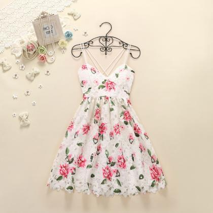Pretty High Quality Floral Lace Dresses, Summer Dresses, Floral Lace Dresses, Cute Dresses