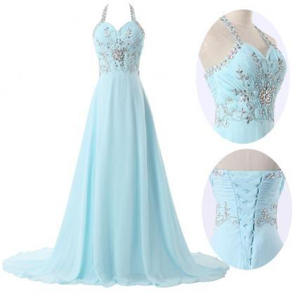 Pretty Light Blue Long Prom Dresses 2016 ,Women Evening Dresses,Blue Prom Dress,Prom Dress, Evening Dresses