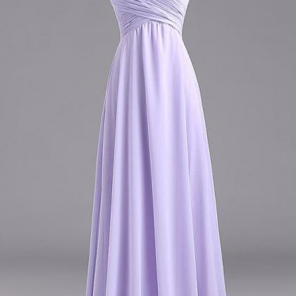 Simple Long Lavender Prom Dress Lav..