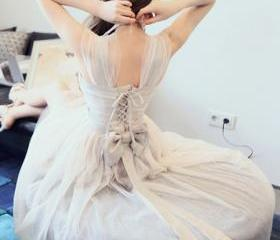 Fantastic Open Back Lace-Up Organza Dress with Bowknot, Pretty Organza Dresses, Summer Dresses 2014