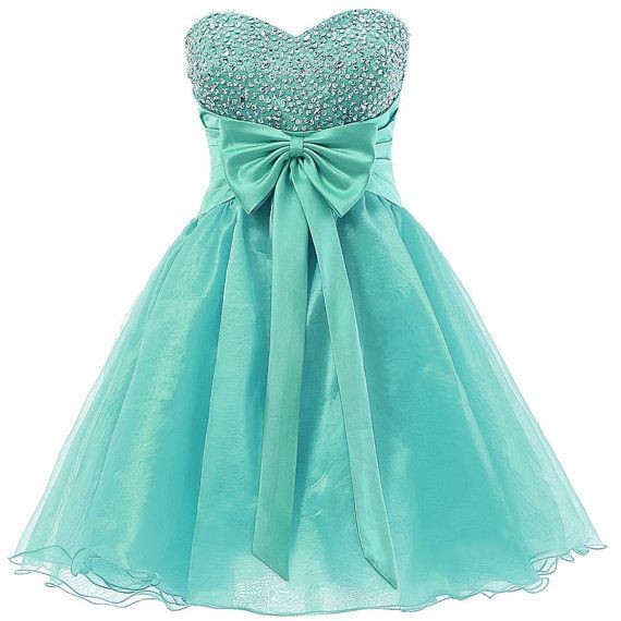Cute mint green short prom dress with beadings cute homecoming dresses