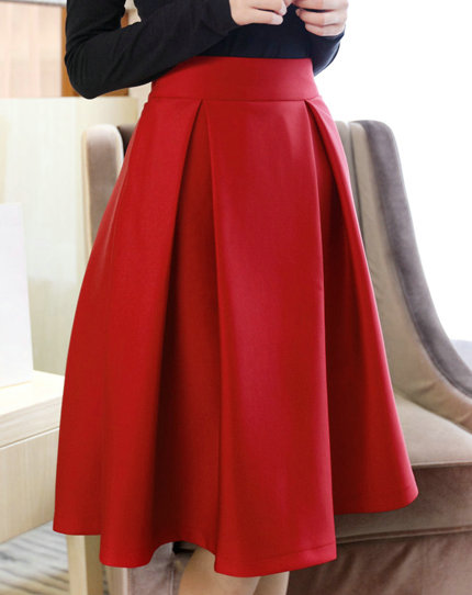 High Quality Cute Women Autumn/Winter Skirts, Burgundy Skirts, Red ...