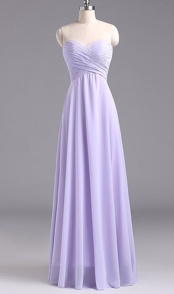 Simple Long Lavender Prom Dress Lavender Bridesmaid Dresses, Lavender Formal Gown, Evening Gowns
