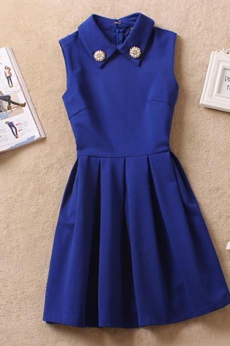 Lovely Blue Women Dresses, New Style Short Dresses 2018, Women Dresses