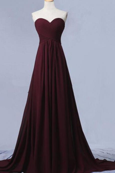Maroon Junior Prom Dress 2018, Party Dresses, Bridesmaid Dresses for Weddings