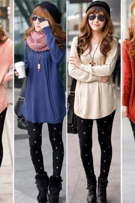 Fashionable and Sweet New Autumn Fashion Women Knitting Round Neck Long Sleeve Sweater