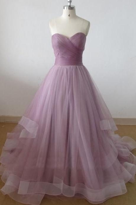 Beautiful Long Tulle Sweetheart Prom Gown, Prom Gowns, Party Dresses, Prom Dresses 2017