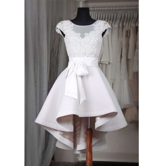 Cute Short Satin White Homecoming Dresses Scoop neck Lace Women Party Dresses, Short Prom Dresses