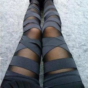 Black Sexy Punk Stripes Leggings, sexy black leggings, Leggings 2014, black Leggings