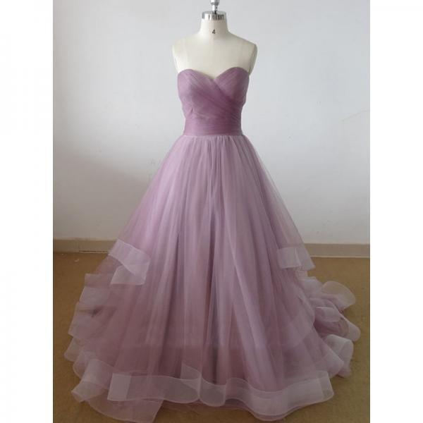 Beautiful Handmade Tulle Long Prom Gown 2016, Prom Dresses 2016, Party Dresses 2016